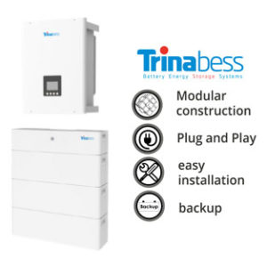 Trinabess T Series 12.0kWh (Three Phase Hybrid System, 5.2kW Inverter)